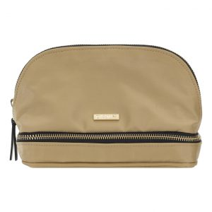 Day Double Zip Cosmetic Bag – Camel