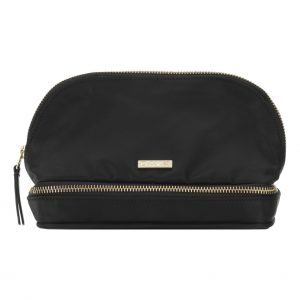 Day Double Zip Cosmetic Bag – Black