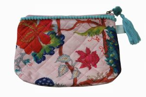 Floral Pink Make Up Bag