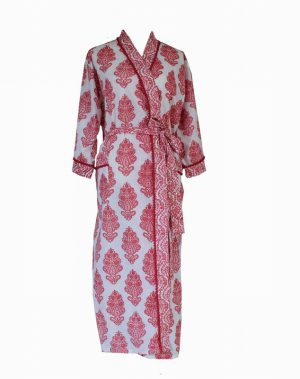 Paisley Pink Dressing Gown