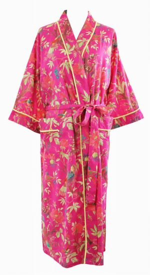 Hot Pink Bird Dessing Gown