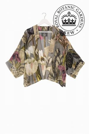 Iris Grey Mini Kimono – One Hundred Stars