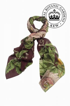 Passion Flower Burgundy Scarfs