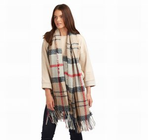 Barbour Caramel Boucle Scarf